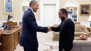 Obama and Kendrick in the Oval office
