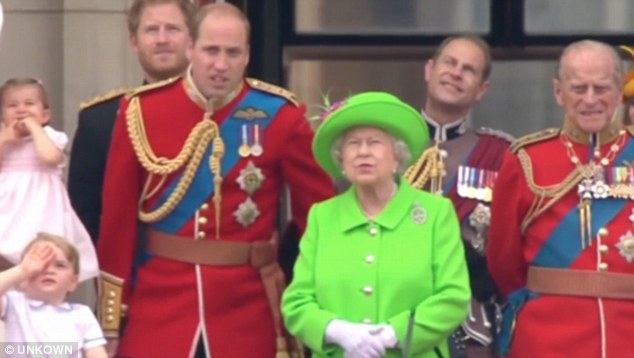 The Duke looked a little sheepish as he followed his grandmother's orders