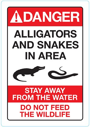 This is the sign Disney will put up on the beach where an alligator dragged two-year-old Lane Graves to his death